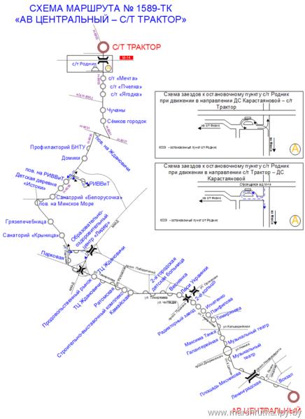 Схема движение маршрутных такси в брянске